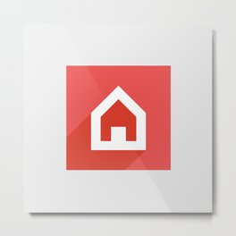 Home icon Metal Print