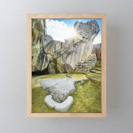 Temple of the Condor at Machu Picchu Framed Mini Art Print
