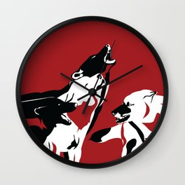 A Wolf's Bloodlust Wall Clock