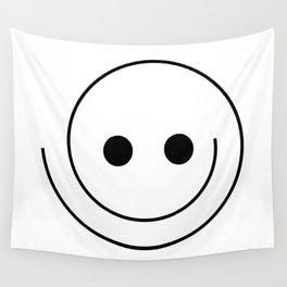 Silly Smiley Face Wall Tapestry