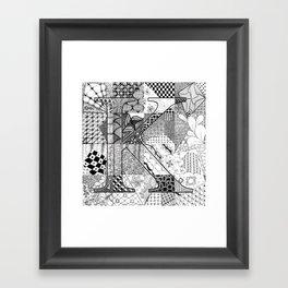 Small K Framed Art Print