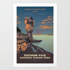 Fathom Five National Park Poster (Flowerpot Island) Art Print