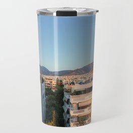 Evening Light Over Athens Travel Mug