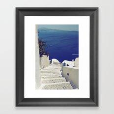 Santorini Stairs II Framed Art Print
