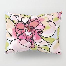 Pink Blush Peonies Pillow Sham