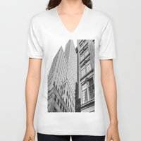 dallas V-neck T-shirts featuring Downtown Dallas by Sofleecori
