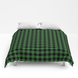 Classic Green Country Cottage Summer Buffalo Plaid Comforters