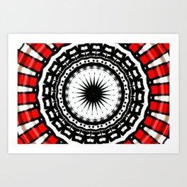 Red Black Fight Art Print