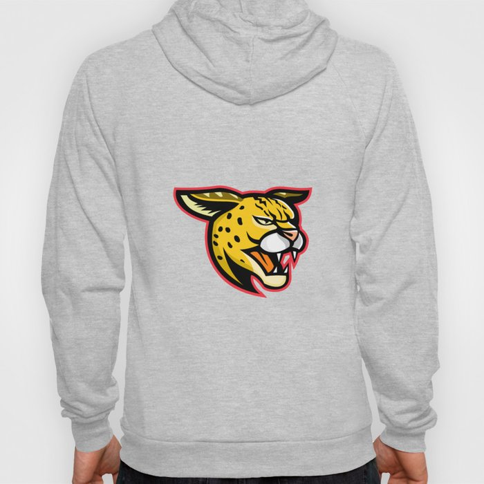 Serval Wild Cat Mascot Hoody