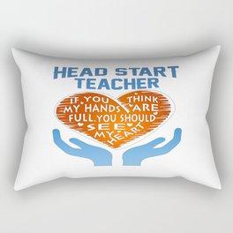 Head Start Teacher Rectangular Pillow