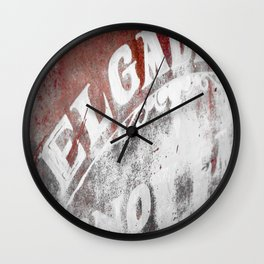 Rusted Car Door Off Route 66 Wall Clock