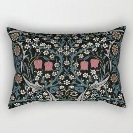 William Morris Blackthorn Art Nouveau Floral Pattern Rectangular Pillow