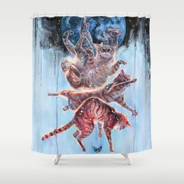Felinoid Fall Shower Curtain
