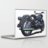bmw Laptop & iPad Skins featuring BMW R50 MOTORCYCLE by Ernie Young