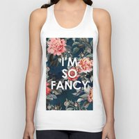 iggy azalea Tank Tops featuring I'm So Fancy Iggy Azalea Inspired Watercolor Blush Peonies Art Print by payalprints