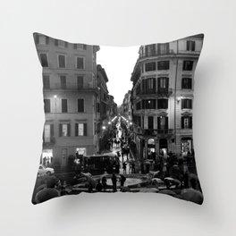 Rain in Rome Throw Pillow