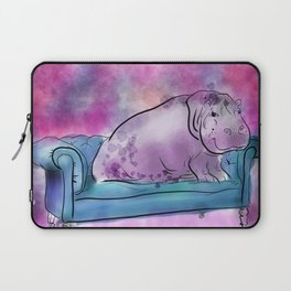 animals in chairs #9 variations on a theme Hippo Laptop Sleeve