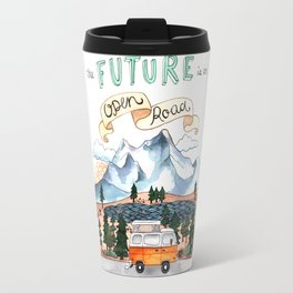 The Future is an Open Road Travel Mug