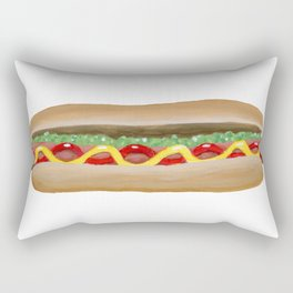 Hot Dog Rectangular Pillow