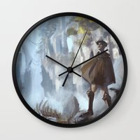 snk Wall Clocks featuring Another World by emametlo