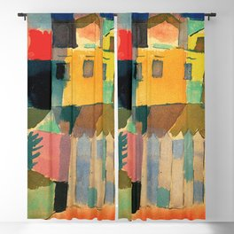 "Paul Klee ""Houses on the Sea 1914"" Blackout Curtain"