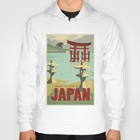 travel poster Hoodies featuring Kaiju Travel Poster by Duke Dastardly