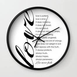 Love words Wall Clock
