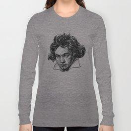 Ludwig Van Beethoven line drawing Long Sleeve T-shirt