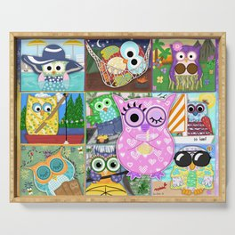 Vacation Owls Serving Tray