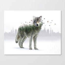 Wild I Shall Stay | Wolf Canvas Print