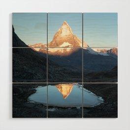 Matterhorn Sunrise Wood Wall Art