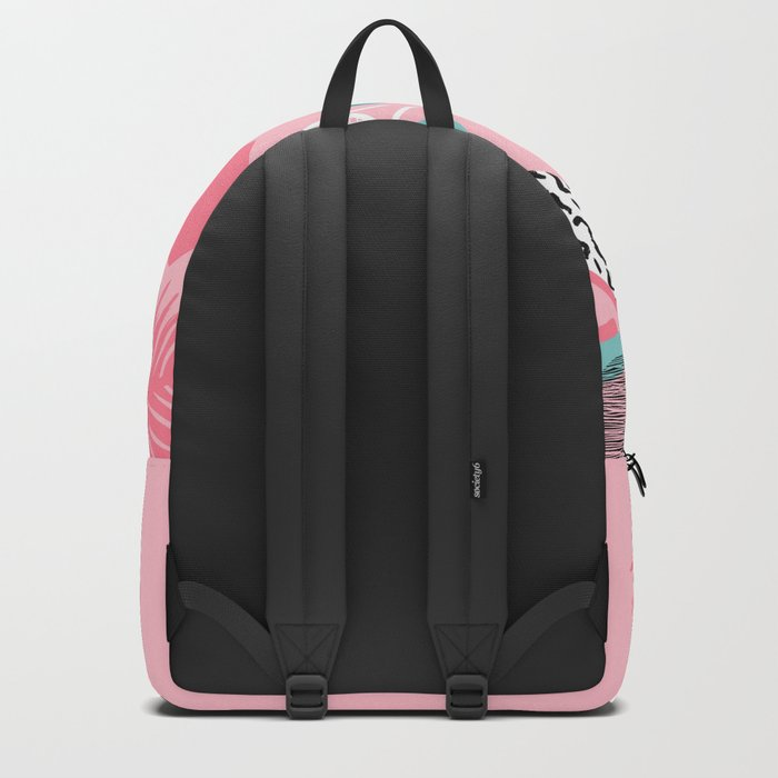 Playa' - memphis retro neon throwback 1980s tennis pattern squiggle pop art sport full court action Backpack