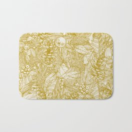 forest floor gold ivory Bath Mat