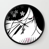asian Wall Clocks featuring Asian Obsession by DesignDinamique