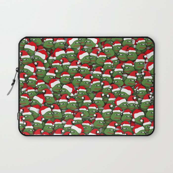 Sad christmas frogs pattern Laptop Sleeve