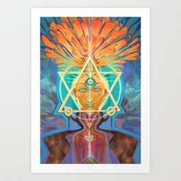A Phoenix Rising Art Print