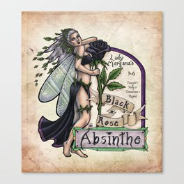 Black Rose Absinthe by Bobbie Berendson W Canvas Print