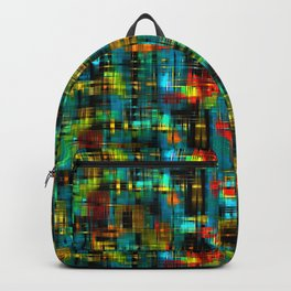 Art splash brush strokes paint abstract seamless pattern print background Backpack