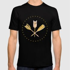 aztec arrows Mens Fitted Tee Black MEDIUM