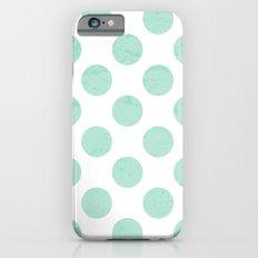 Mint Polka Dot iPhone 6s Slim Case