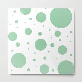 Mint Green Bubbles Metal Print