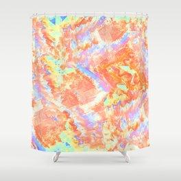Orange Gemstones Shower Curtain