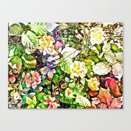 Scattered Blooms And Verdure Canvas Print