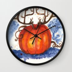 Deer Pumpkin Wall Clock