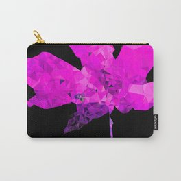 pink geometric polygon maple leaf abstract with black background Carry-All Pouch