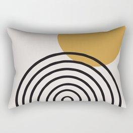 Rainbow, Gold Sun,  Rectangular Pillow