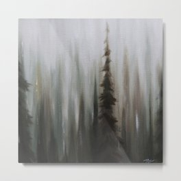Pacific Northwest Forest oil painting by Jess Purser Metal Print