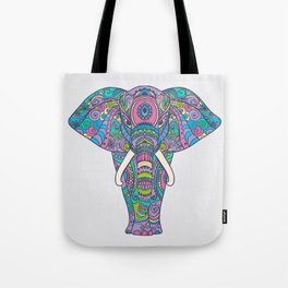 Elephant in Colors Tote Bag