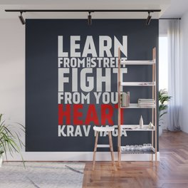 Learn from the Street Krav Maga Wall Mural