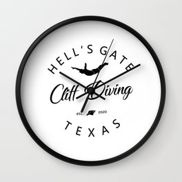 Cliff Jumping Shirt Texas Cliff Diver TShirt Hell's Gate Cliff Diving T Shirt Wall Clock